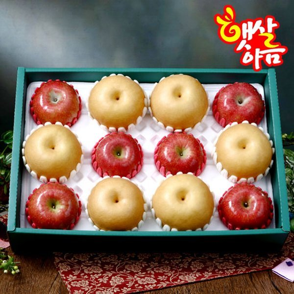 햇살아름 당도선별  명품 사과배혼합 선물세트2호 5.7kg이상 (사과6개 배6개/특품) 상품이미지