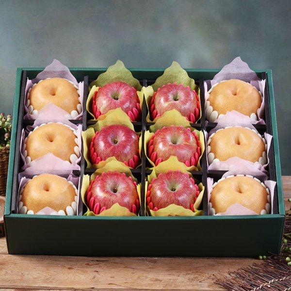햇살아름 당도선별  진품 사과 배 혼합선물세트 7.5kg이상 (사과6개 배6개/특품) 상품이미지
