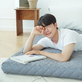 3단 접이식 에어 매트리스 침대바닥 토퍼 수면매트