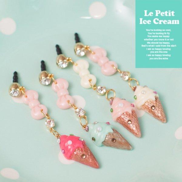 Le Petit Ieccream_Earcap 르쁘띠 아이스크림 이어캡 (4color)-해피모리 상품이미지
