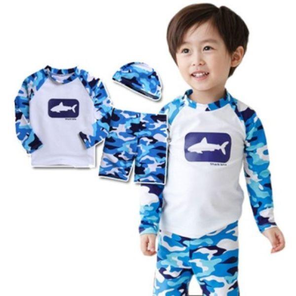 상어 래쉬가드 블루 3종세트(1-10세) 202707 상품이미지