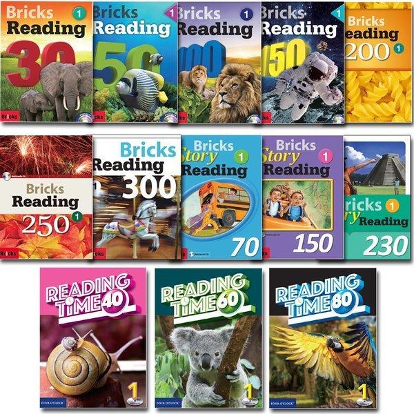 영어노트증정/Bricks Reading 1~3단계세트 30.50.100.150.200.250.300/Story Reading/Reading Time 상품이미지