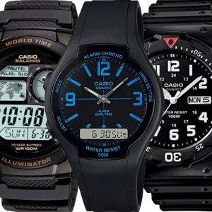 [카시오]카시오정품 전자손목시계 남성여성 군인군용군대방수