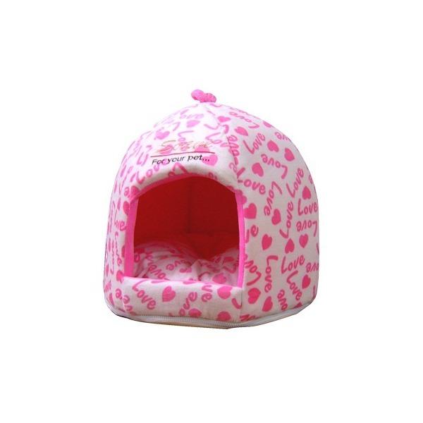 강아지n고양이 하우스-쏘아베 돔 하우스 /  핑크 상품이미지
