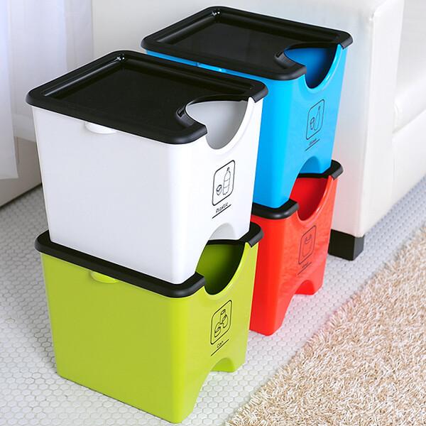 에코홀릭 분리수거함 3단 90L 가정용재활용분리수거함 상품이미지
