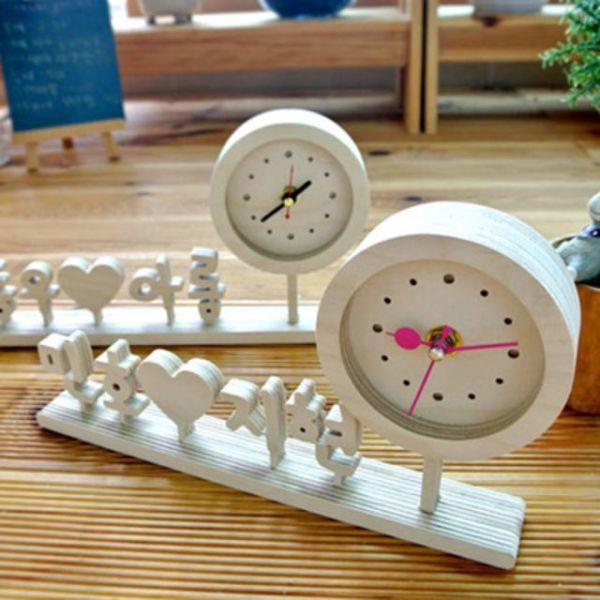 자작나무 한글 이니셜 시계 땡글 K 상품이미지