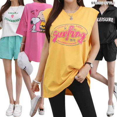 SSONG STYLE New arrivals long T-shirt/boxy/loose fit/special price