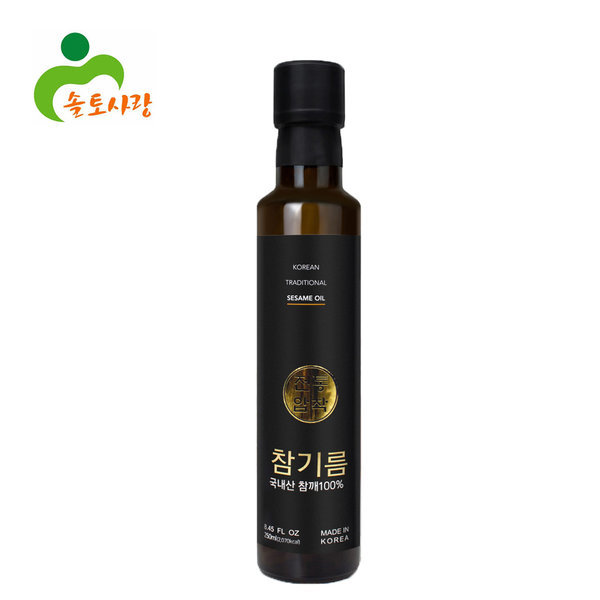 솔토사랑/국산전용/참기름 들기름/270ml/압착방식 상품이미지
