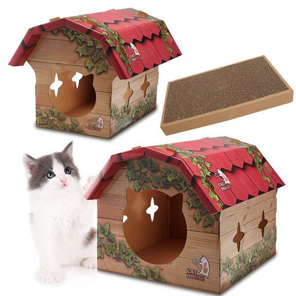 도그씨 고양이집/고양이스크래쳐/CM 페이퍼 하우스 상품이미지