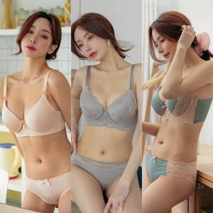 [비너스]빅사이즈속옷 C/D/E/F컵 브라팬티세트/여성속옷