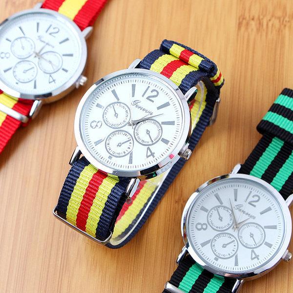 패션코디 나토밴드 손목시계/학생용 패션시계 상품이미지