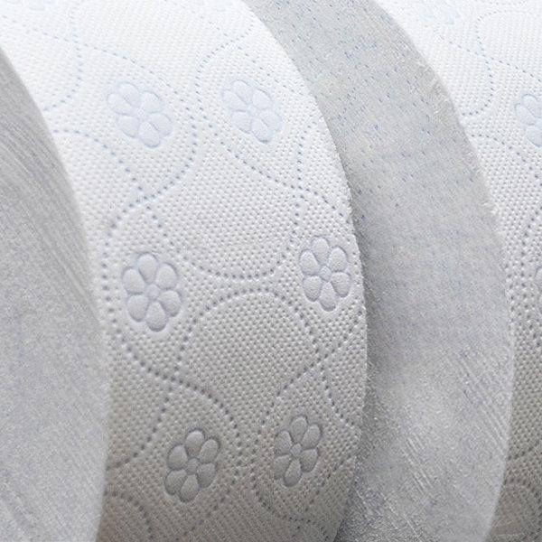 100%천연펄프 장폭3겹 대용량꽃무늬 점보롤화장지휴지 상품이미지