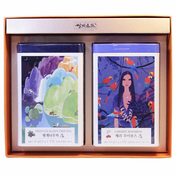 쌍계명차 티캐디 헛개차+체리루이보스 선물세트/티캔 상품이미지