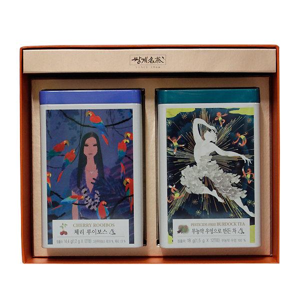 쌍계명차 티캐디 우엉차+체리루이보스 선물세트/티캔 상품이미지