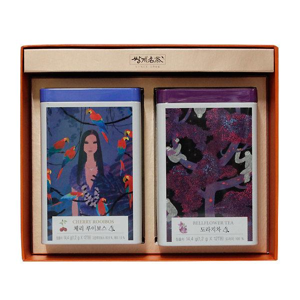 쌍계명차 티캐디 홍도라지차+체리루이보스 선물세트 상품이미지