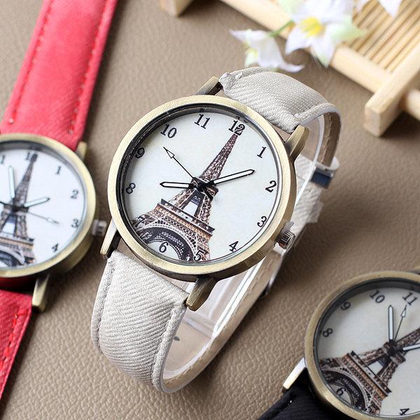 패션 손목시계(에펠탑)/단체행사 사은품용 학생시계 상품이미지