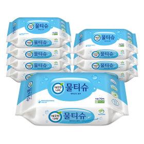 (1+1)깨끗한나라_페퍼민트물티슈 리필 _70매x8입