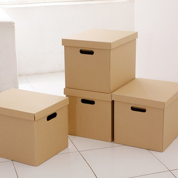 무지 트렁크 종이정리함 4종(일반)(3겹)  /종이수납박스 상품이미지