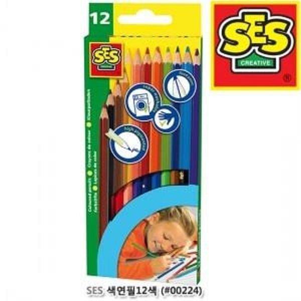 SES 색연필12색 색연필 유아색연필 미술놀이 상품이미지
