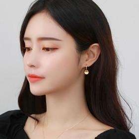 14K Gold pin limited special price rose gold long earrings hoop earrings