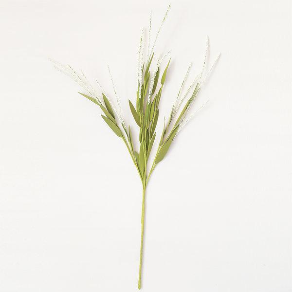 야생부쉬 화이트 (인테리어 조화꽃 화분) 상품이미지