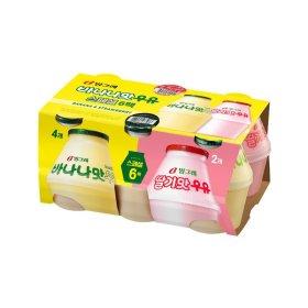 빙그레_바나나우유6입기획 바나나 딸기 _240MLx6