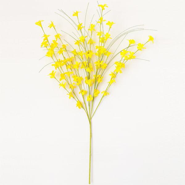 개나리 옐로우 (인테리어 조화꽃 화분) 상품이미지