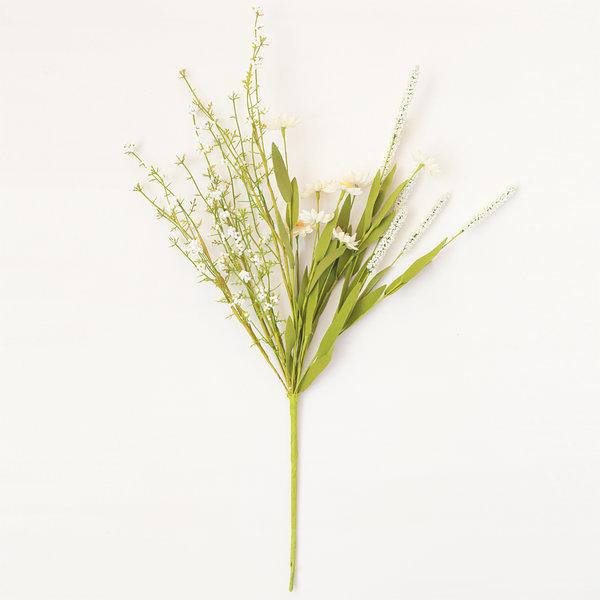 데이지와 야생부쉬 화이트 (인테리어 조화꽃 화분) 상품이미지
