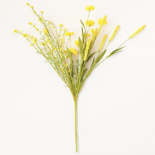 데이지와 야생부쉬 옐로우 (인테리어 조화꽃 화분) 상품이미지