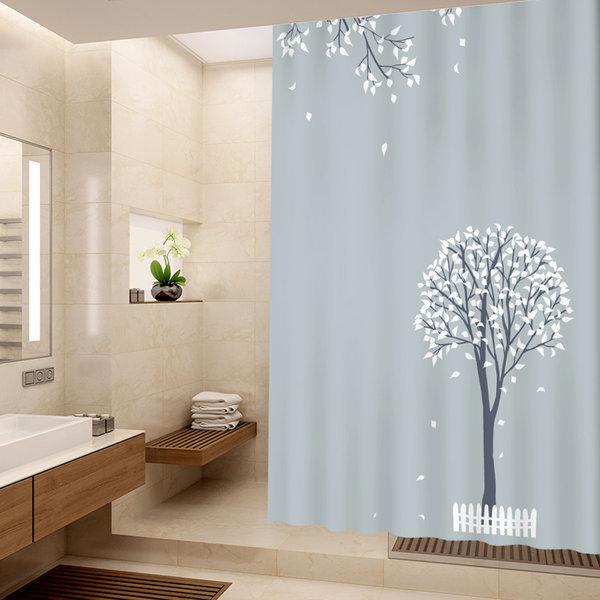 샤워커튼 샤워봉 가림막 방수 커튼 휴지걸이 욕실용품 상품이미지