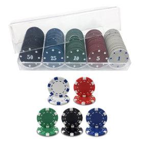 카지노칩 일반 하양 20P 포커칩 카드 게임 트럼프 칩