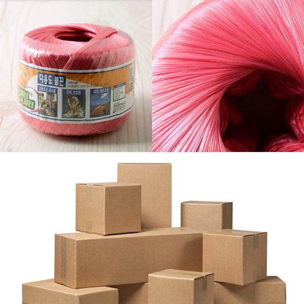 롯데 포장 노끈 2.5M / 적색 / 비닐 붉은 컬러 이사 상품이미지