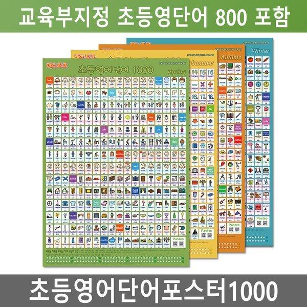 초등영어단어포스터1000/교육부필수800/영어단어전과 상품이미지
