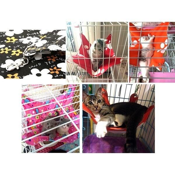 꽃패턴 블랙 고양이해먹 중형M 갯하우스/집/방석 상품이미지