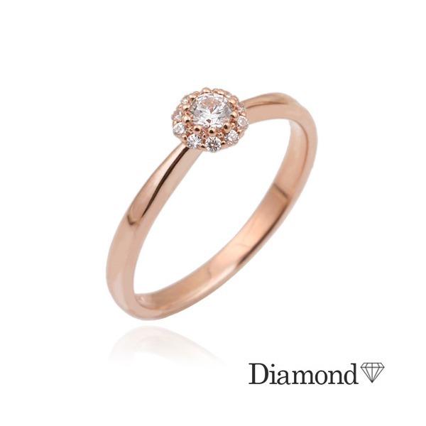 14K GOLD  메를린 다이아몬드 반지(0.1ct) 상품이미지