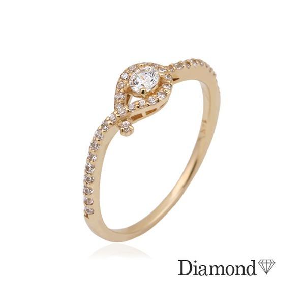 14K GOLD  델타로이스 다이아몬드 반지(0.1ct) 상품이미지
