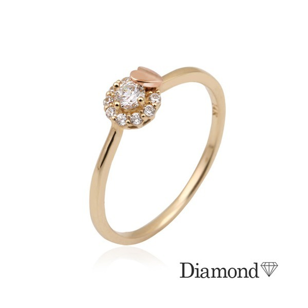 14K GOLD  엘리스러브 다이아몬드 반지(0.1ct) 상품이미지