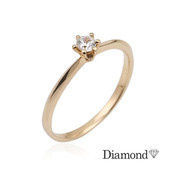 14K GOLD  심플식스포인트 다이아몬드 반지(0.1ct) 상품이미지