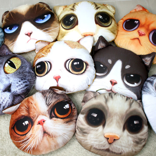 고양이 얼굴쿠션 22가지 모음 상품이미지