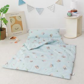 nap blanket+bag/pure cotton wadding blanket/infant topper/day care blanket
