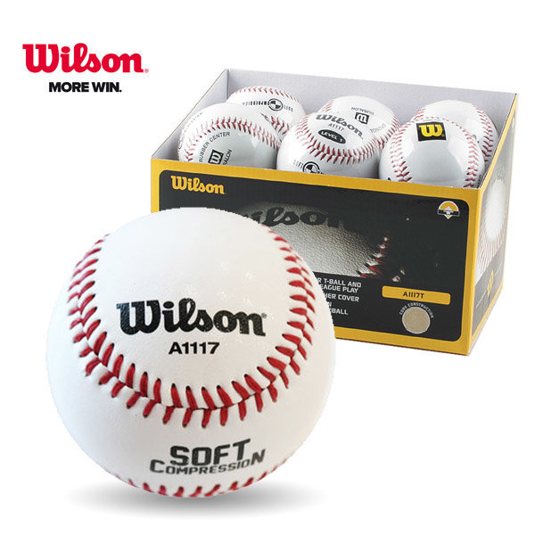 윌슨 야구공 WTA1117 안전야구공 낱개 연습구 소프트 상품이미지