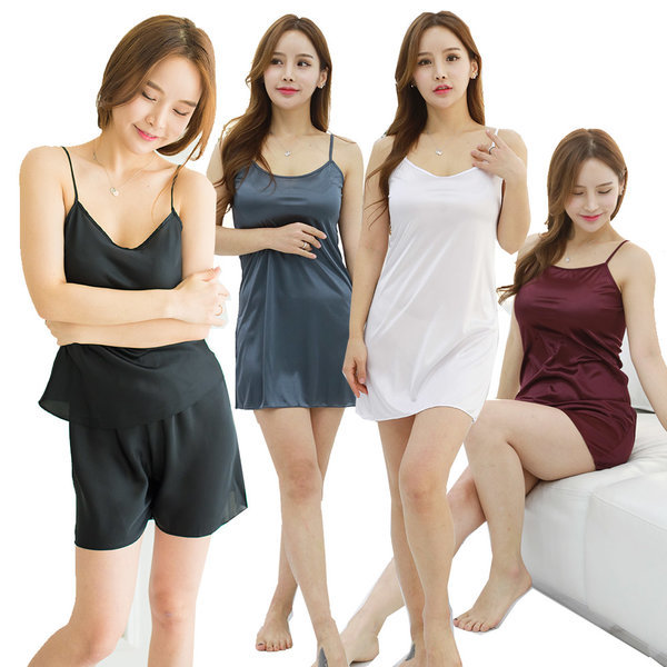 속바지 속치마 캐미솔 슬립 쫄바지 인견 여성속옷 상품이미지