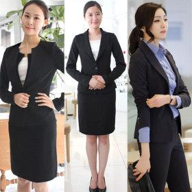 d810015f95d 구매 45; 여성 기본 검정 블랙 네이비 면접 정장 세트 유니폼 64,000원 무료배송