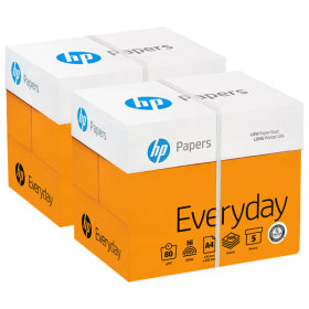 [hp] A4 / 80g / 2 boxes / lessens paper clogging / smooth surface / vivid / low transparency /