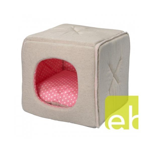 투웨이 큐티도티 고양이하우스(접으면 방석)/핑크 S 상품이미지