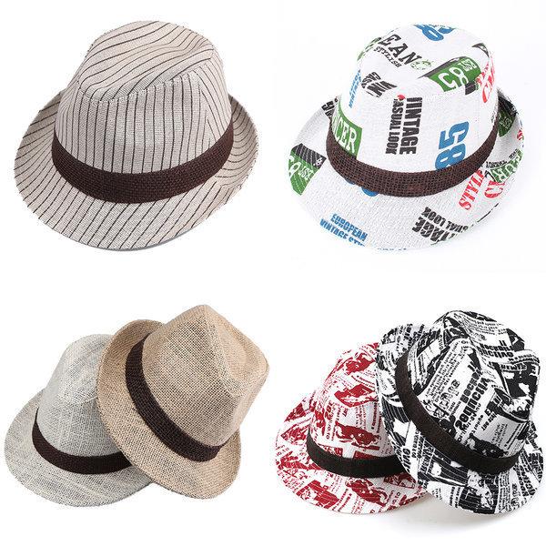 남자 페도라 비치 중절모 바캉스 여름 모자 여성 밀짚 상품이미지