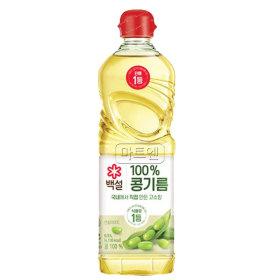 CJ 백설 콩기름 0.5L X 1개 식용유 기름
