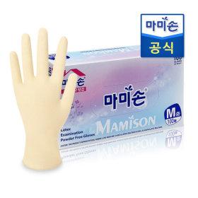 마미손 라텍스장갑100매(중형) /니트릴장갑/위생장갑