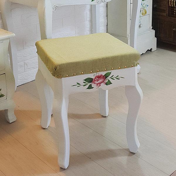 루이송 빅토리아 스툴 의자 수공예 화장대의자 상품이미지