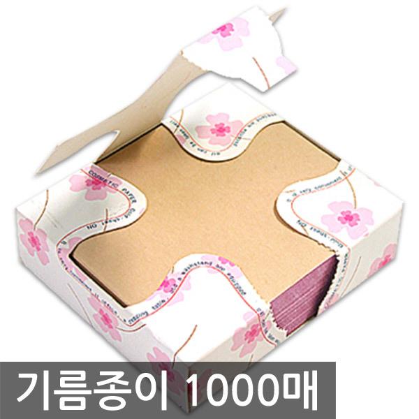 100% 천연 마 탁상용 대용량 기름종이 핑크 1000매 상품이미지